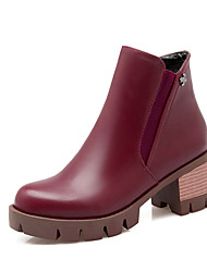 Women's Shoes Fashion Boots / Motorcycle Boots / Round Toe Boots Office & Career / Dress / Casual Chunky Heel