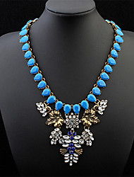 Fashion Personality Droplets Leaves Delicate Necklace