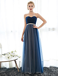 Sheath / Column Sweetheart Floor Length Chiffon Prom Dress with Crystal