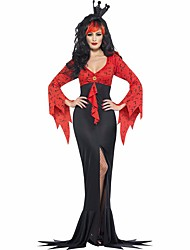 Sexy Witch Costume Deluxe Adult Womens Vampire Costume,Masquerade party queen Costumes for halloween