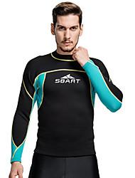 SBART Homme Combinaisons Tenue de plongée Compression Costumes humides 1.5 à 1.9 mm Bleu S / M / L / XL / XXL / XXXXL Plongée