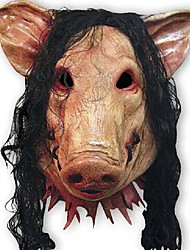 Creepy Pig Masks Cosplay Full Face Halloween Birthday Barty Festival Party Rubber Costume Theater Realistic Mask