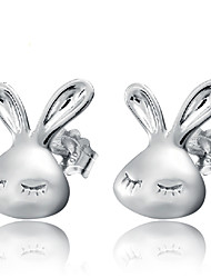 Silver Rabbit Fashion Hypoallergenic Earrings