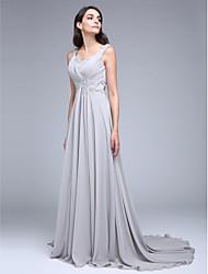 2017 ts couture® formale Abendkleid a-line Schatz Gericht Zug Chiffon mit appliques / Kreuzschnürung