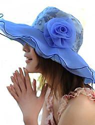 Mujer Sombrero Floppy Vintage / Bonito-Verano / Otoño-Acrílico / Lino / Malla / Paja