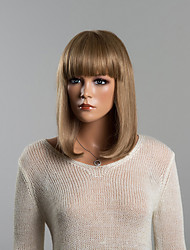 Beautiful Capless Straight Medium Human Hair Wigs