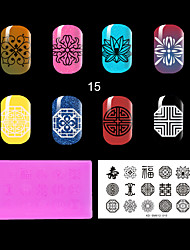 1PC The Lastest Style Ret Environmental  Plastic  Lovely Nail Stamping Plate with Fashion Pattern. (KD-SM612-015)