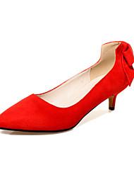 Черный / Красный / Красное дерево-Женская обувь-Для офиса / Для праздника / На каждый день-Флис-На шпильке-На каблуках / Удобная обувь /