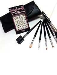 7Pinceau à Lèvres / Pinceau à Sourcils / Pinceau à Eyeliner Liquide / Peigne à Cils (plat) / Peigne à Cils (rond) / Pinceau de Coloration