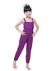Children's Training Cotton Pleated Sleeveless Natural Condole Belt Leotard Kid's Dance Costumes