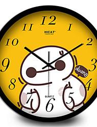 Yellow Cartoon Creative Wall Clock
