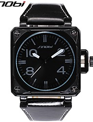 Men's Wrist watch Quartz Water Resistant / Water Proof Shock Resistant Leather Band Cool Black Brand SINOBI