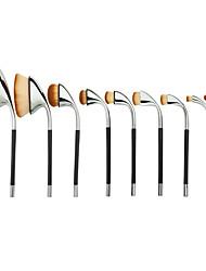 2016 New 9PCS Pro Oval Makeup Brush Set Concealer Foundation Powder Blending Brushes Special Golfclub Brush Handle