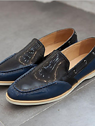 Men's Clogs & Mules Leatherette Casual Low Heel Others Black / Almond Walking