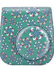 пу кожаный чехол сумка труба цветок для Fujifilm INSTAX мини 8 мгновенная пленочной камеры, зеленый