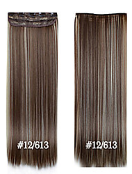 24inch 60cm #12/613 Long Straight Hair Clip in Hair Extensions  Synthetic HairPieces for Beautiful Women