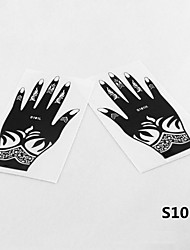2pcs 22X10CM Tattoo Stencil & Template For Painting, Airbrush Tatoo & Henna Temporary Tattoos