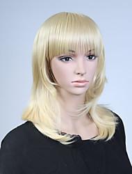 perruque synthétique droite naturelle capless couleur blond longue de haute qualité