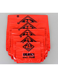 sac en plastique rouge gilet adapté / portable sac cadeau / sac poubelle / sac / sac