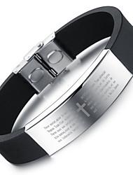 Armbänder Armreife Silikon Kreisform Modisch / Kreuz Alltag / Normal / Sport Schmuck Geschenk Schwarz,1 Stück