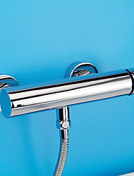 Shower Faucet Contemporary / Modern Shower Only Widespread with  Ceramic Valve Single Handle Two Holes for  Chrome
