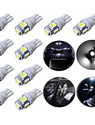 10pcs t10 5SMD 5050 voiture LED Auto lampe ampoules 12v 1s au xénon