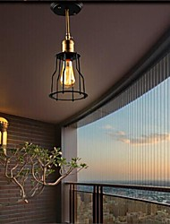 40W Rustic/Lodge Mini Style Painting Metal Flush Mount Bedroom / Dining Room / Study Room/Office