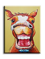 Pintados à mão Animal Pinturas a óleo,Pastoril / Estilo Europeu / Estilo / Moderno / Clássico / Tradicional / Realismo / Mediterrêneo1