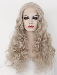 2 Tones Synthetic Lace Front Wig Blonde Color Wavy Wigs Top Quality