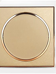 Hardware Appliance Blank Panel Champagne Gold Circular Hole Filling Special Panel