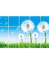 Floral / Paysage Stickers muraux Stickers avion Stickers muraux décoratifs,vinyl Matériel Amovible / Repositionable Décoration d'intérieur