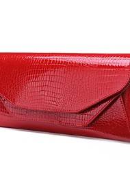 Women Cowhide Outdoor Clutch / Evening Bag Red