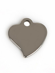 Beadia (50Pcs) 12x12mm Heart Stainless Steel Charm Pendant For Necklace & Bracelet Jewelry Making