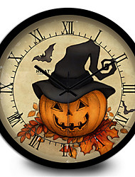 Study The Living Room Decoration Home Furnishing Pumpkin Children'S Room Wall Clock
