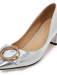 Wedding Shoes-Saltos-Saltos / Inovador / Bico Fino-Preto / Rosa / Vermelho / Prateado-Feminino / Para Meninas-Casamento / Social / Festas