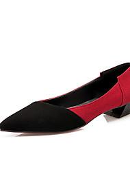 Damen-Flache Schuhe-Outddor / Büro / Lässig-Vlies-Flacher Absatz-Komfort / Spitzschuh-Gelb / Rot / Grau