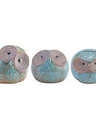Kiln Ceramic  Glaze  Blue Sky Owl Money Box Three/Sets