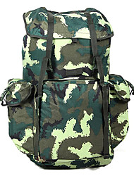 70 L Backpack Camping & Hiking Outdoor Multifunctional Green Canvas Other