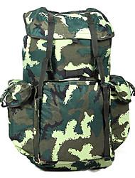 70 L sac à dos Camping & Randonnée Extérieur Multifonctionnel Vert Toile Other