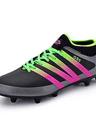 Men's Boys Football Boots AG Spike Microfiber Cleats Teenagers Profession Athletics Ultralight Medium cut Soccer Shoes
