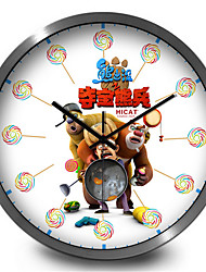 Cute Cartoon Bear Infested Home Accessories Children'S Room Silent Wall Clock