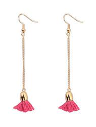 Concise Fashion Chain Tassel Earrings