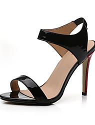 Zapatos de mujer-Tacón Stiletto-Tacones-Sandalias-Oficina y Trabajo / Casual / Fiesta y Noche-Semicuero-Negro