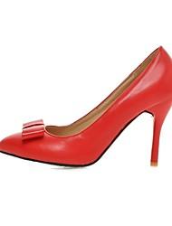 женская обувь пу коренастый пятки пятки / пальца ноги пятки заостренный офис&карьера / вскользь черный / розовый / красный / белый