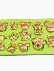Multi Cartoon Mouse Cupcake Decoration Silicone Fondant Mold Sugarcraft Tools Polymer Clay Chocolate Candy Making