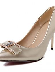 Damen / Herren / Mädchen-High Heels-Büro / Kleid / Lässig-Kunstleder-Stöckelabsatz-Absätze-Silber / Gold