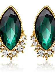 Turquoise Exqusite Quality Silver AAA Zircon Crystal Drop Earrings for Lady Wedding Party