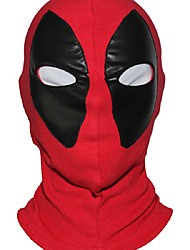 Marvel Superhero Deadpool Mask Breathable Fabric Faux Leather Full Face Mask Halloween Cosplay Keep Warm Balaclava Hat