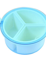 3 Cells Random Color Environment Friendly Seasoning Box with Spoon