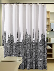 "Modern Architecture Pattern Shower Curtains W71""×L71"""